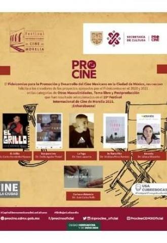 Documentales apoyados por PROCINE en el 2020 y 2021 seleccionados en el  19º Festival Internacional de Cine de Morelia 2021